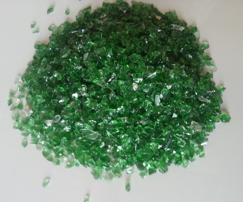 GREEN COLOR GLASS CULLET